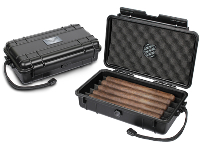 $26.99 – Guardsman Humidor Travel Black 5 Ct.