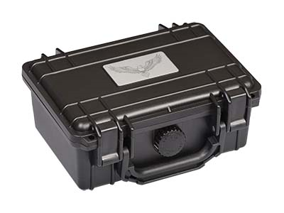 $36.99 – Guardsman Humidor Travel Black 10-15 Ct.