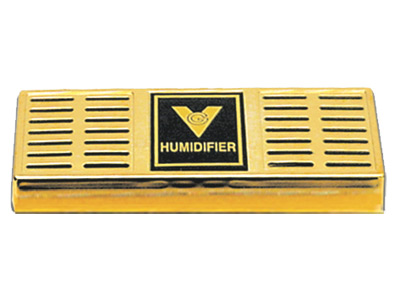"$7.99 – Gold Humidifier – 6.5""x2.5"" 75 Cigars"